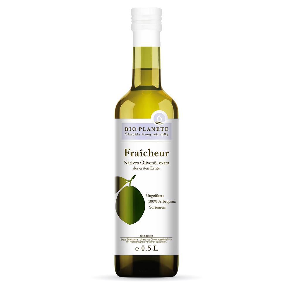 Oliwa z Oliwek Fraîcheur-pierwsza oliwa zoliwek znowych zbiorów-0,5l-bio-planete