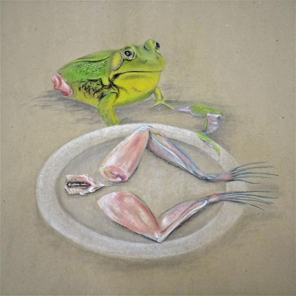 Kunstwettbewerb - Beitrag von Usch Quednau - what people eat