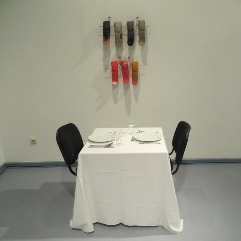 Kunstwettbewerb - Beitrag von Renate Hahn - Aufgetischt