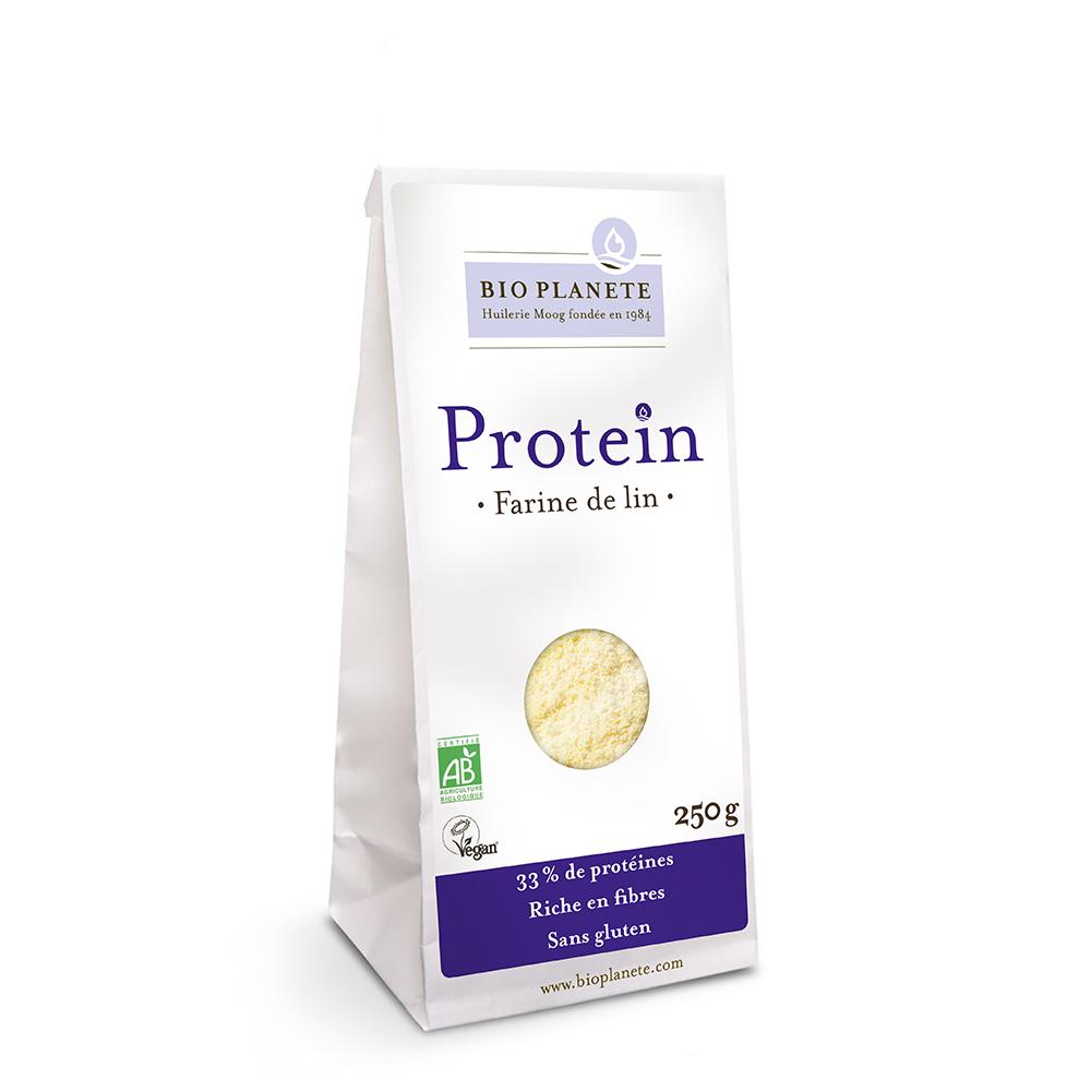farine de lin gamme protein produits bio plan te. Black Bedroom Furniture Sets. Home Design Ideas